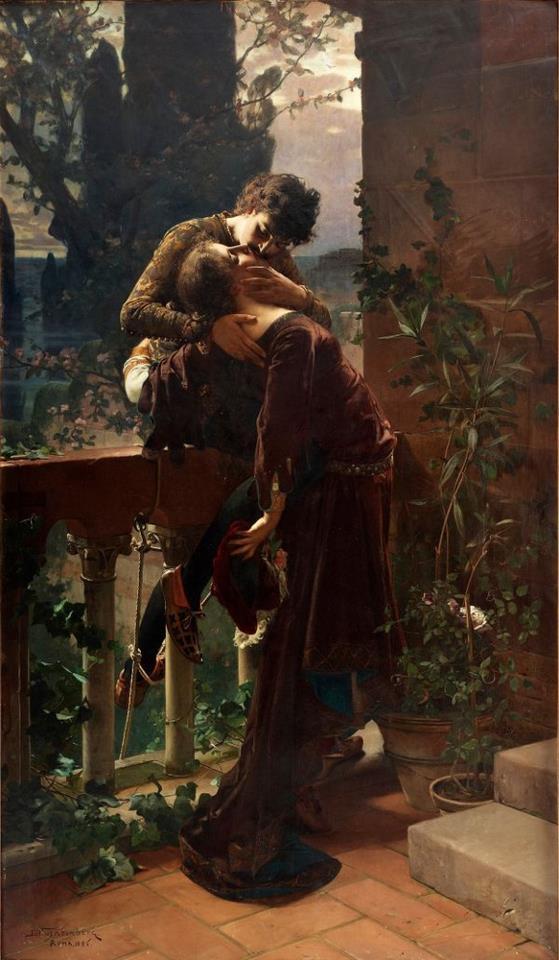 Julius-Kronberg-Romeo-and-Juliet-on-the-balcony