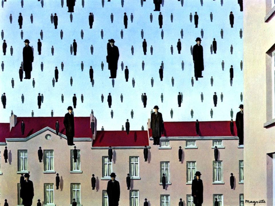 René-Magritte-Golconda